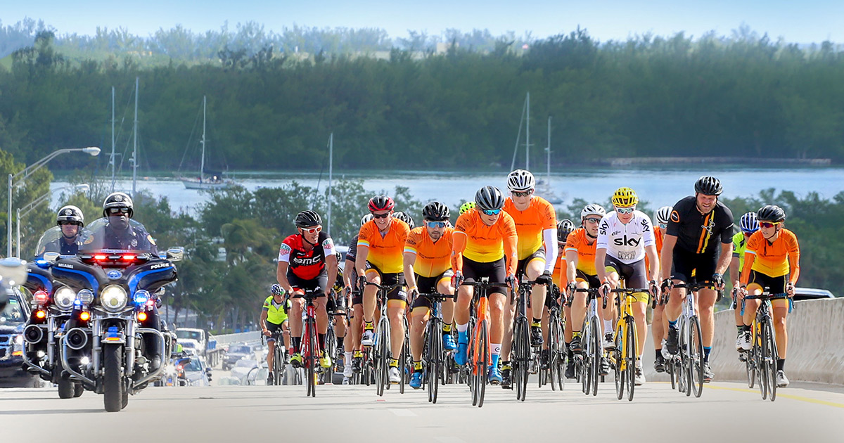Cyclists in Miami