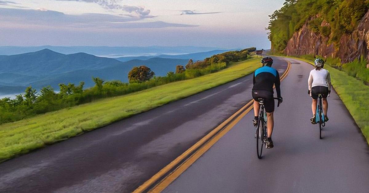 cyclists on blue ridge parkway
