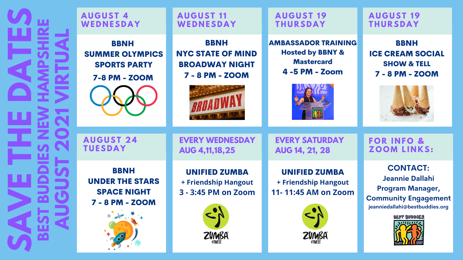 Best Buddies in New Hampshire August Events