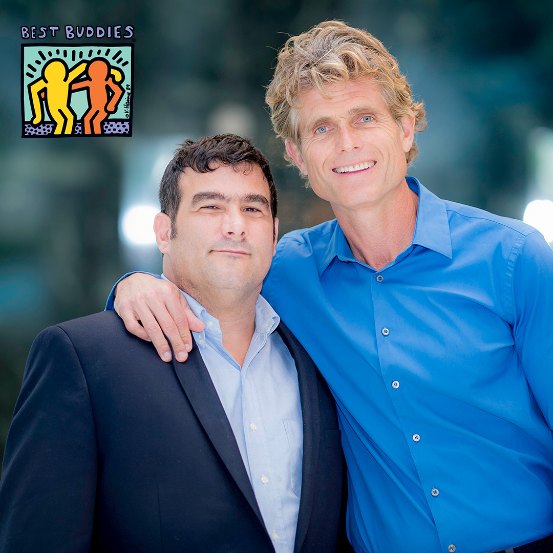 Buddy Pair Anthony Shriver and Jorge Morillo in dress attire