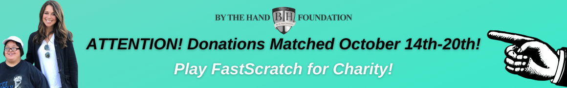 FastScratch for Charity Donation Matching Campaign Banner